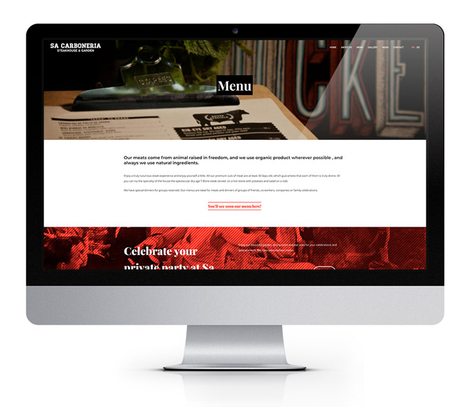 web wordpress restaurante diseñadora freelance barata