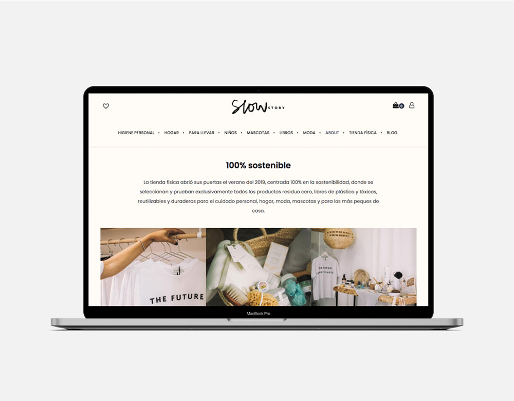Tienda online diseño